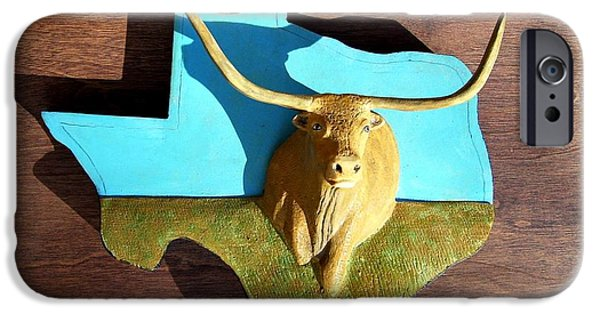 Michael Reliefs iPhone Cases - Woodcrafted Home on the Range iPhone Case by Michael Pasko
