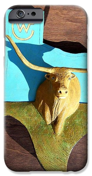 Woodcrafted Home on the Range iPhone Case by MICHAEL PASKO