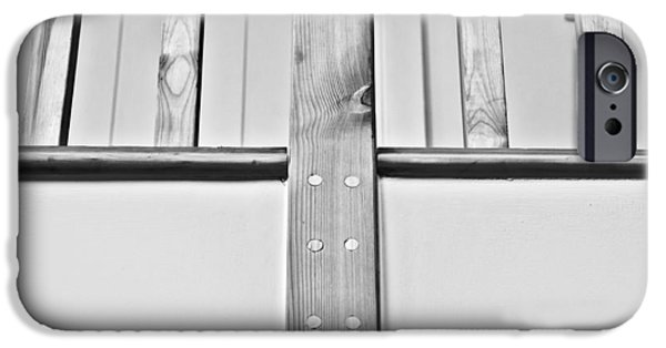 Balcony iPhone Cases - Wooden bannister iPhone Case by Tom Gowanlock