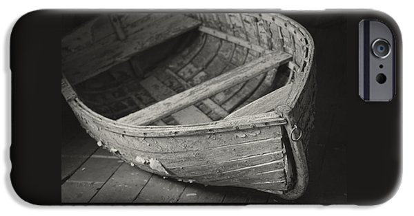 Historic Site iPhone Cases - Wooden Boat Fading Away iPhone Case by Mary Lee Dereske