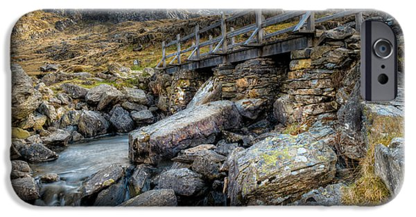 Walkway Digital Art iPhone Cases - Wooden Bridge iPhone Case by Adrian Evans