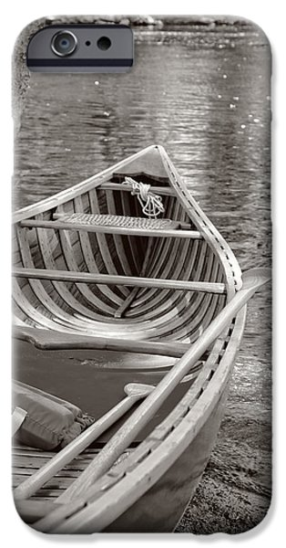 Concord Massachusetts iPhone Cases - Wooden Canoe iPhone Case by Edward Fielding