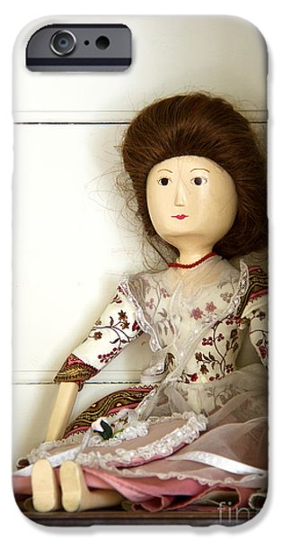 Wooden Doll iPhone Case by Margie Hurwich