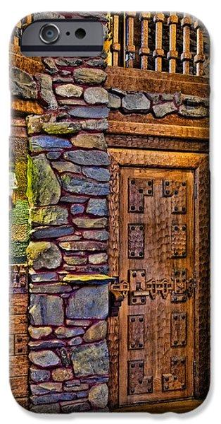 Building iPhone Cases - Wooden Door iPhone Case by Susan Candelario