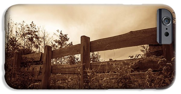 Ambiance iPhone Cases - Wooden Fence iPhone Case by Wim Lanclus