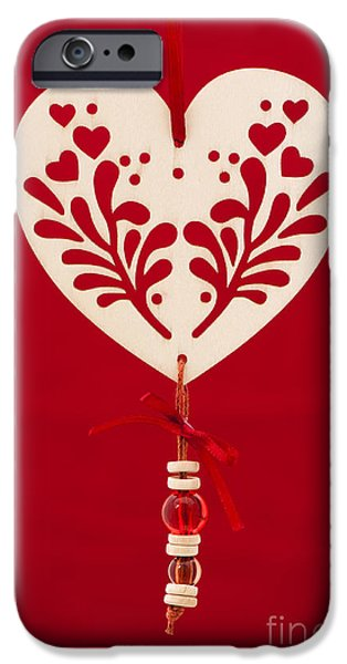 Wooden Heart iPhone Case by Anne Gilbert