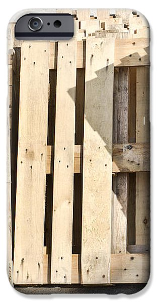 Wooden pallets iPhone Case by Tom Gowanlock