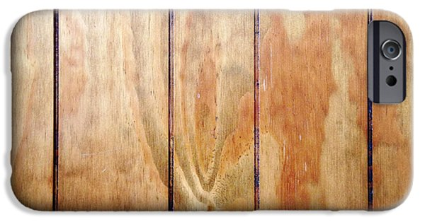 Flooring iPhone Cases - Wooden panel iPhone Case by Les Cunliffe