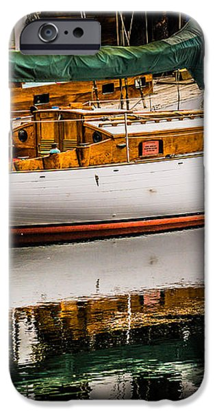Wooden Sailboat iPhone Case by Puget  Exposure