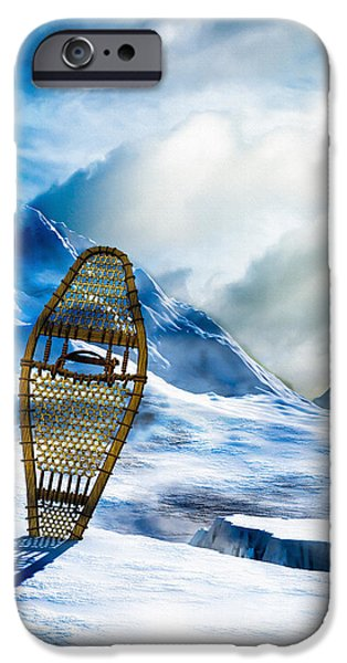 Wooden Snowshoes  iPhone Case by Bob Orsillo