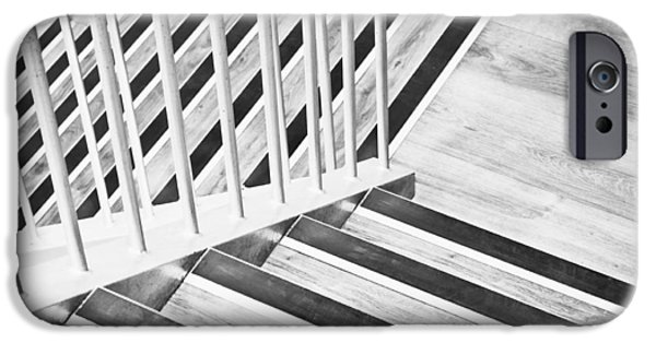 Escape iPhone Cases - Wooden stairs iPhone Case by Tom Gowanlock