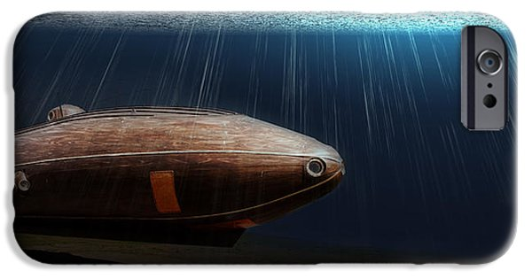 Sun Breakthrough iPhone Cases - Wooden Submarine Ictineo II LV iPhone Case by Weston Westmoreland