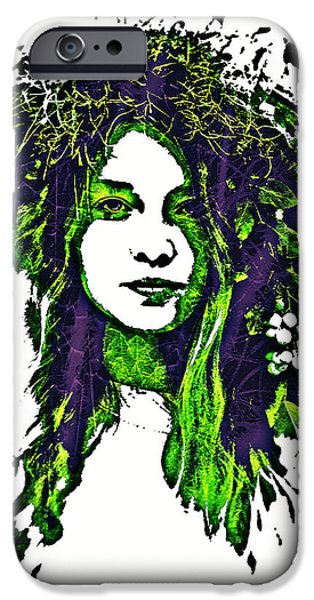 Gaia Digital iPhone Cases - Woodland Faerie iPhone Case by Absinthe Art By Michelle LeAnn Scott