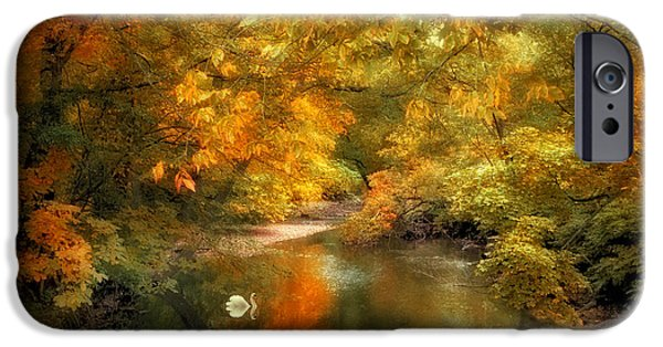 River iPhone Cases - Woodland River Lights iPhone Case by Jessica Jenney