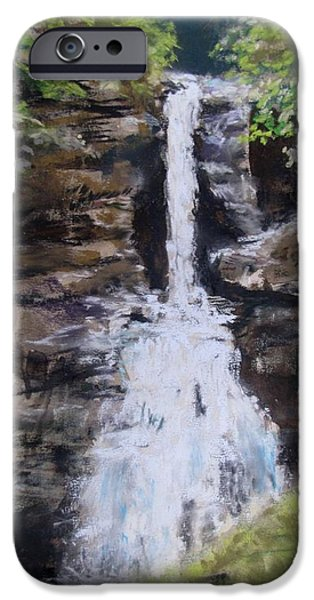 Woodland Waterfall iPhone Case by Jack Skinner