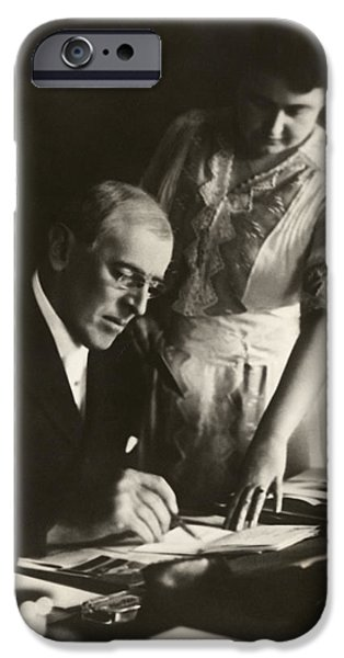 President And First Lady iPhone Cases - Woodrow and Edith Wilson iPhone Case by Nomad Art And  Design