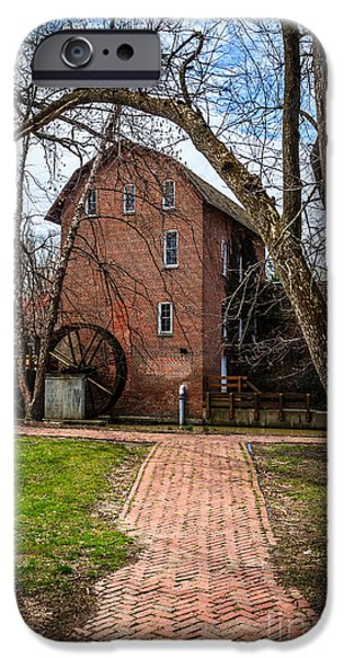 Hobart iPhone Cases - Woods Grist Mill in Hobart Indiana iPhone Case by Paul Velgos