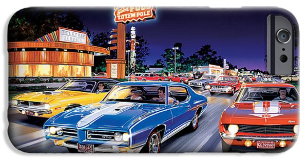 Fast Food iPhone Cases - Woodward Avenue iPhone Case by Bruce Kaiser