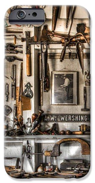 Woodworking Tools iPhone Case by Debra and Dave Vanderlaan