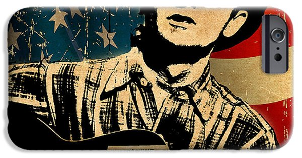 Woody Guthrie iPhone Cases - Woody Guthrie 1 iPhone Case by Andrew Fare