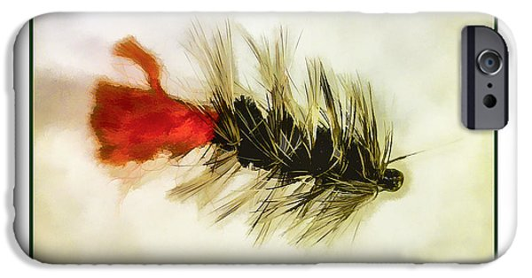 Flies Mixed Media iPhone Cases - Fly Fishing - Woolly Bugger iPhone Case by Barry Jones