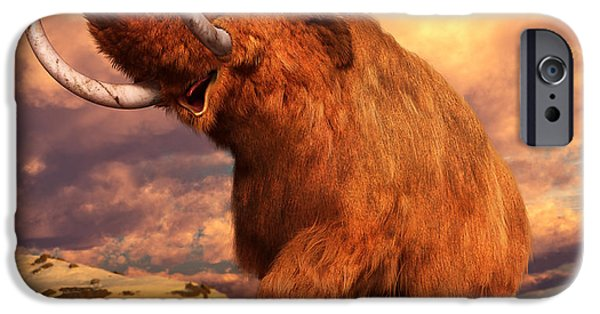 Extinct iPhone Cases - Woolly Mammoth iPhone Case by Gary Hanna