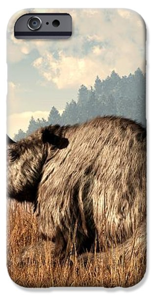 Woolly Rhino and a Marmot iPhone Case by Daniel Eskridge