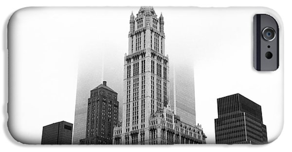 Twin Towers Nyc iPhone Cases - Woolworth Building 1990s iPhone Case by John Rizzuto
