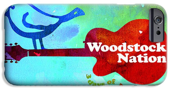Mascots Mixed Media iPhone Cases - Woodstock Nation iPhone Case by Neil Finnemore