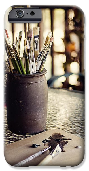 Painter Photographs iPhone Cases - Work in Progress iPhone Case by Heather Applegate