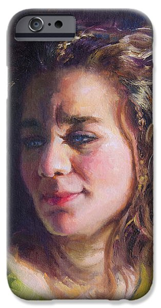 Work in Progress - Self Portrait iPhone Case by Talya Johnson