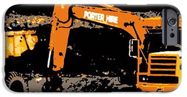 Machinery iPhone Cases - Workin on the highway iPhone Case by Guy Pettingell