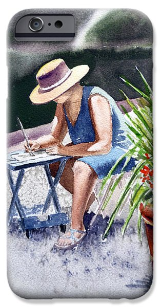 Working Artist iPhone Cases - Working Artist iPhone Case by Irina Sztukowski
