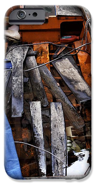 Working Artist iPhone Cases - Working Boat iPhone Case by John Rizzuto