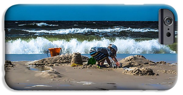 Sand Castles iPhone Cases - Working hard  iPhone Case by Kim Loftis
