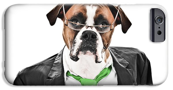 Cute Puppy iPhone Cases - Working Like a Dog iPhone Case by Jt PhotoDesign