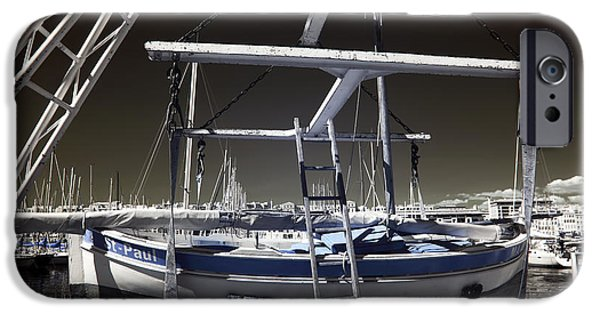 Working Artist iPhone Cases - Working on the Boat iPhone Case by John Rizzuto