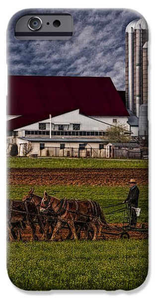 Working The Fields iPhone Case by Susan Candelario