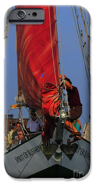 Working The Sails iPhone Case by Kathleen Struckle