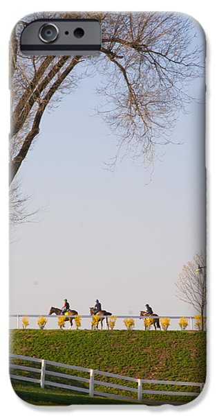 Keeneland iPhone Cases - Workout iPhone Case by Sid Webb