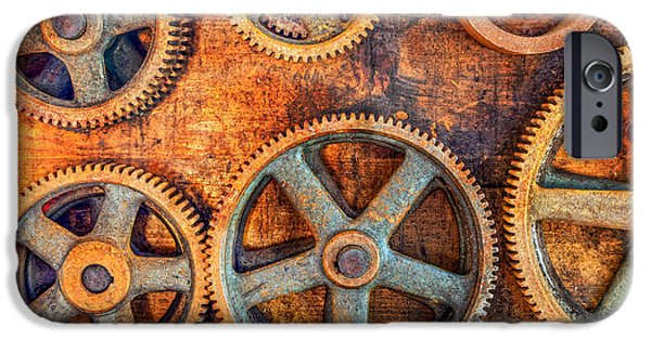 Machinery iPhone Cases - Workshop iPhone Case by Alexey Stiop