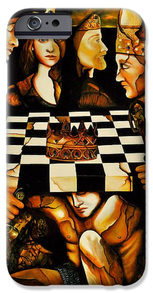 Chess Queen iPhone Cases - World Chess  Nwo iPhone Case by Dalgis Edelson