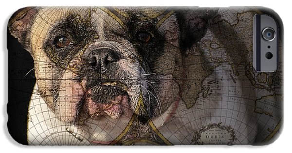 French Bulldog iPhone Cases - World Domination iPhone Case by Judy Wood