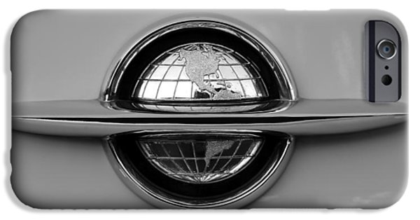 1949 Plymouth iPhone Cases - World Emblem  iPhone Case by David Lee Thompson