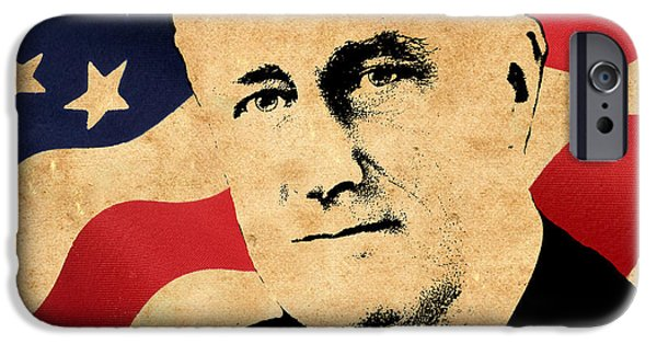 Franklin Roosevelt iPhone Cases - World Leaders 10 iPhone Case by Andrew Fare