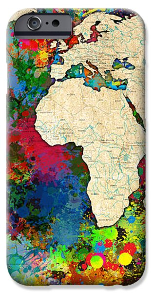 World Map Colorful iPhone Case by Gary Grayson