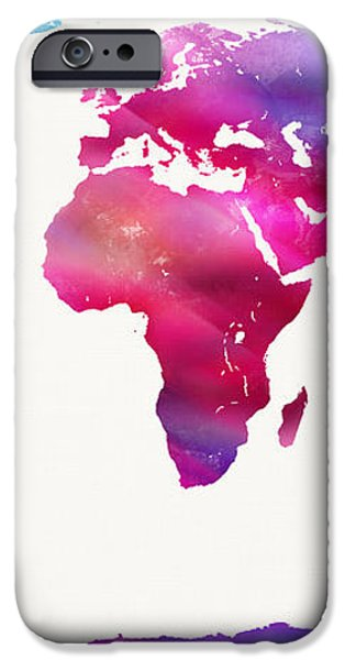 World Map Light  iPhone Case by Mike Maher
