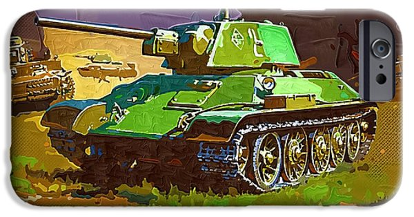 Marine iPhone Cases - World of Tanks Fan Art 06 iPhone Case by Victor Gladkiy