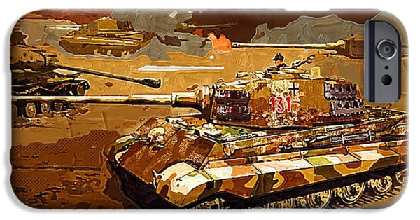 Barrel Paintings iPhone Cases - World of Tanks Fan Art 07 iPhone Case by Victor Gladkiy