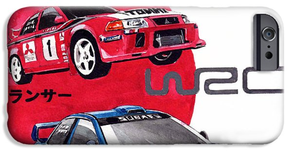 Lancer iPhone Cases - World Rallye Championship iPhone Case by Yoshiharu Miyakawa